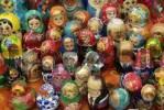 Thumbnail Souvenir salesman with Russian dolls Babuschka Matrioschka Matruschka.