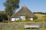 Thumbnail Thatched, historic Pfarrwitwenhaus house with museum and garden in the Gross Zicker village on the Moenchgut peninsula, Biosphaerenreservat Suedost-Ruegen Biosphere Reserve, Ruegen island, Mecklen