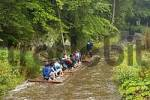 Thumbnail rafting on Wilde Rodach near Wallenfels - Frankenwald - Franconia - Germany