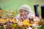 Thumbnail Girl, 7, in a park in autumn