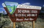 Thumbnail entrance sign fot the Sonoran Desert National Monument