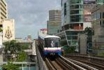 Thumbnail BTS Skytrain, Bangkok Mass Transit System, S-Bahn between skyscrapers, Bangkok, Thailand, Southeast Asia, Asia