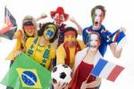 Thumbnail Soccer fans of different nations, soccer ball