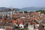 Thumbnail View from the spire of the cathedral, Trogir, Dalmatia, Adriatic, Croatia, Europe