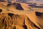 Thumbnail Flight over the dunes of the Namib desert, Namibia, Africa