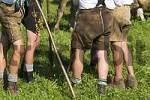 Thumbnail men with leather trousers - cattle drive Viehscheid in Oberstaufen Allgäu Germany