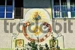 Thumbnail sun dial, Tegernsee, Upper Bavaria, Bavaria, Germany