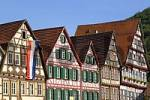 Thumbnail half-timbered houses in Bad Urach, Baden-Wuerttemberg, Germany