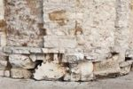 Thumbnail Roman stones built into the church wall, Church of St. Donatus, Sveti Donat, Zadar, Dalmatia, Croatia, Europe