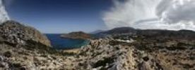 Thumbnail Panoramic views of Arkassa, Paleokastro and Agios Nikolaos, Karpathos, Aegean Islands, Aegean Sea, Greece, Europe