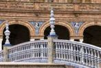 Thumbnail Detail of a bridge railing on the Plaza de Espana square in Seville, Spain, Europe