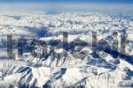 Thumbnail view from a plane, Alps