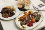 Thumbnail Goat meat with vegetables and potatoes, Haria, Lanzarote, Canary Islands, Spain, Europe