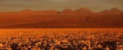 Thumbnail Red evening light in the salt flat of the Atacama Desert, Chile, South America