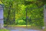 Thumbnail Wrought-iron entrance gate to an old cemetery