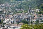 Thumbnail View over Marburg an der Lahn with the historic town centre in front of the Lutheran Church, Marburg, Hesse, Germany, Europe