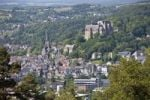 Thumbnail View over Marburg an der Lahn with the historic town centre in front of the Landgrave's Castle, University Museum of Cultural History and the Lutheran Church, Marburg, Hesse, Germany, Europe