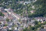 Thumbnail View over Marburg an der Lahn with the historic town centre in front of St. Elizabeth's Church, Marburg, Hesse, Germany, Europe