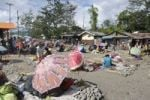 Thumbnail Market with umbrellas for shade, Wamena, Baliem Valley, Irian Jaya, Indonesia, Southeast Asia, Asia