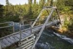 Thumbnail Wooden foot bridge, canyon, Chilkoot Trail, Chilkoot Pass, Yukon Territory, British Columbia, B. C., Canada