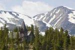 Thumbnail Historic St. Andrews wood church, mountains behind, Bennett City, Klondike Gold Rush, Chilkoot Pass, Chilkoot Trail, Yukon Territory, British Columbia, B. C., Canada