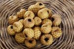 Thumbnail Rumbia, dried Salak fruit (Salacca zalacca) in a woven basket