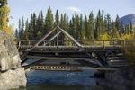 Thumbnail Historic wooden bridge across old Alaska Highway, Aishihik River, Otter Falls, Yukon Territory, Canada