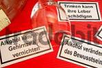 Thumbnail warning notices for alcohol