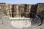 Thumbnail Auditorium, Roman theater with black basalt stones in Bosra, Syria, Asia