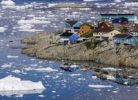 Thumbnail Ice floes and houses, Greenland, Denmark