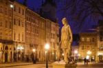 Thumbnail Market square, night shot, Lviv, Ukraine, Eastern Europe
