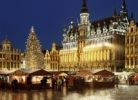 Thumbnail Grand Place and Christmas market, night view, Brussels, Belgium, Europe