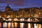 Thumbnail Seine river and row of houses, night view, Paris, France, Europe