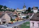 Thumbnail Cityscape with clock tower, Sighisoara, Romania, Europe