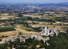 Thumbnail Basilica di San Francesco and Assisi, bird's-eye view, Umbria, Italy, Europe