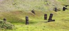 Thumbnail Moais, stone statues in a meadow, Easter Island, Chile