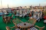 Thumbnail Sun deck of a cruise ship on the Nile, Esna, Egypt, Africa