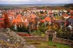 Thumbnail view from the castle to the village Muenzenberg, Hesse, Germany
