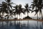 Thumbnail Swimming pool, coconut palms, Bethsaida Hermitage near Kovalam, Kerala, southern India, India, Asia