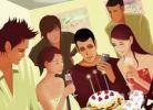 Thumbnail Illustration, birthday celebration