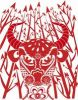 Thumbnail Illustration, Chinese paper cutting, bull, arrows