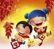 Thumbnail Illustration, cartoon, children, Chinese New Year
