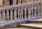 Thumbnail Railing made of porcelain, detail, on the Plaza de Espana square in Seville, Andalusia, Spain, Europe