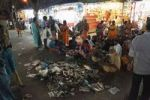 Thumbnail Piles of trash during Thaipusam festival in Palani, Tamil Nadu, Tamilnadu, South India, India, Asia