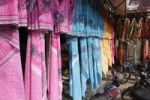 Thumbnail Colorful saris on display, Punjaipuliampatti, Tamil Nadu, Tamilnadu, South India, India, South Asia, Asia