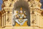 Thumbnail God-figure on the Hindu temple in the garden of Maharaja's Palace, Mysore Palace, Mysore, Karnataka, South India, India, South Asia, Asia
