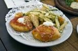 Thumbnail Mix of fried appetizers with Montanara pizza and fried zucchini, Italian fries
