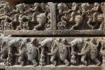 Thumbnail Riders on horses and elephants, rows of figurines on the wall of Kesava Temple, Keshava Temple, Hoysala style, Somnathpur, Somanathapura, Karnataka, South India, India, South Asia, Asia