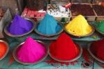 Thumbnail Powdered pigments, Devaraja Market, Mysore, Karnataka, South India, India, South Asia, Asia