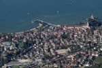Thumbnail Aerial view, Langenargen on Lake Constance with Schloss Montfort castle, Baden-Wuerttemberg, Germany, Europe